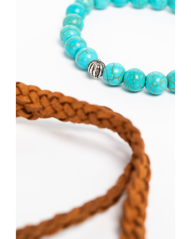 Shyanne Women's Sedona Spice Beaded Toggle Bracelet Set, Silver, hi-res