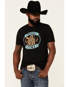 Dale Brisby Men's Rodeo Time Graphic Short Sleeve T-Shirt , Black, hi-res
