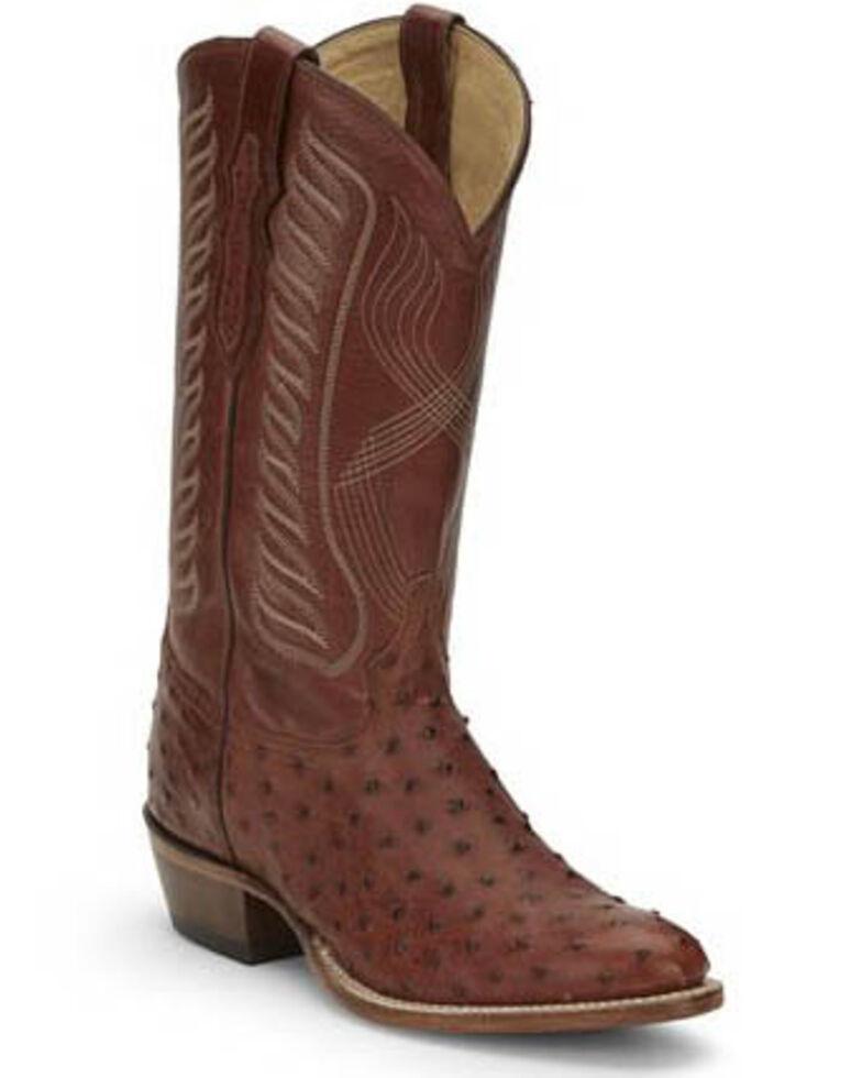 Tony Lama Men's McCandles Brandy Western Boots - Round Toe, Cognac, hi-res