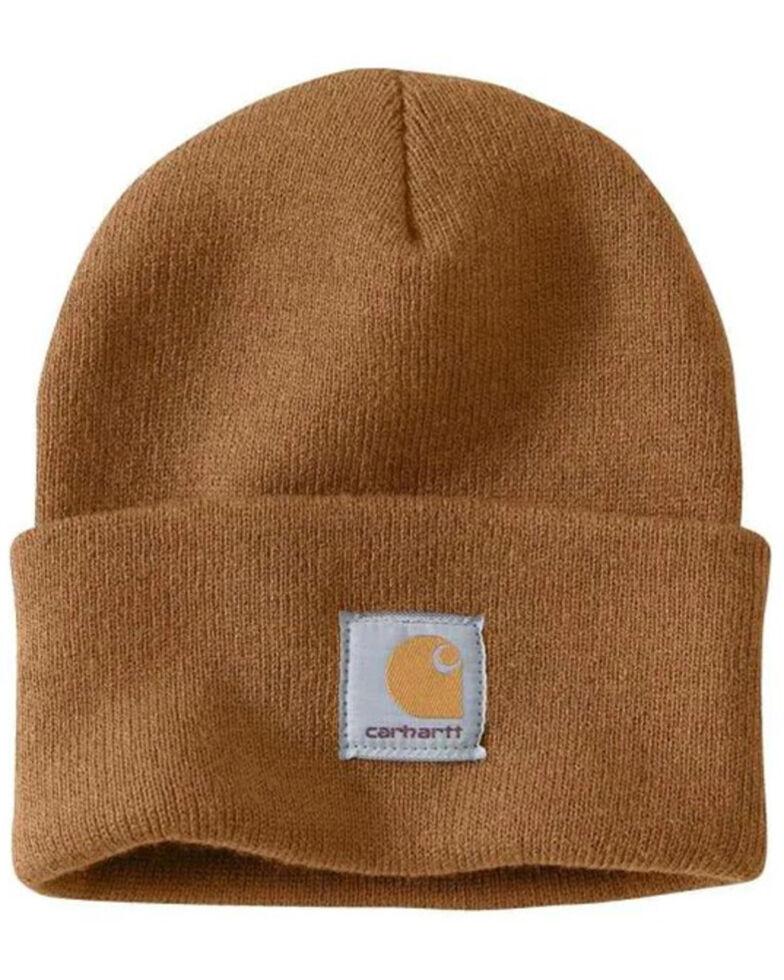 Carhartt Men's Carhartt Brown Watch Hat, Brown, hi-res