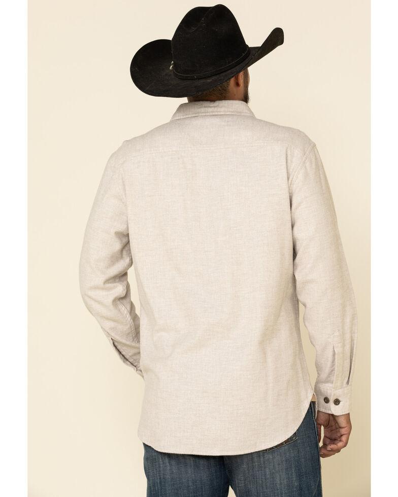 Pendleton Men's White Burnside Solid Flannel Long Sleeve Western Shirt , White, hi-res