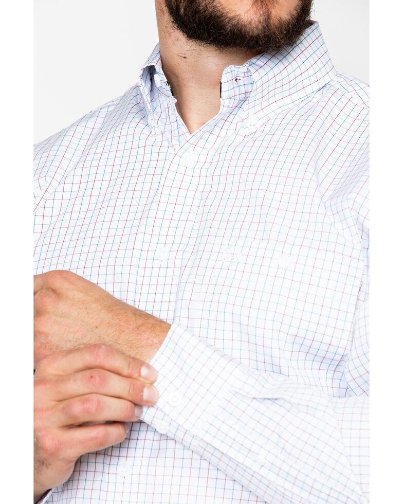 George Strait by Wrangler Men's White Long Sleeve Western Shirt, White, hi-res