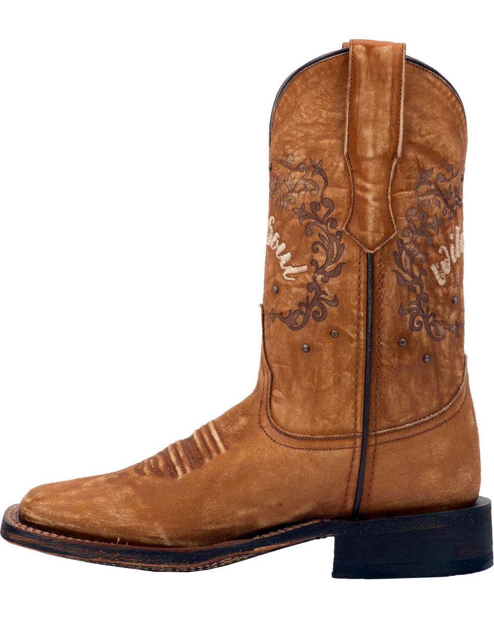 Laredo Women's Fierce Tan Wild Soul Cowgirl Boots - Square Toe, Tan, hi-res