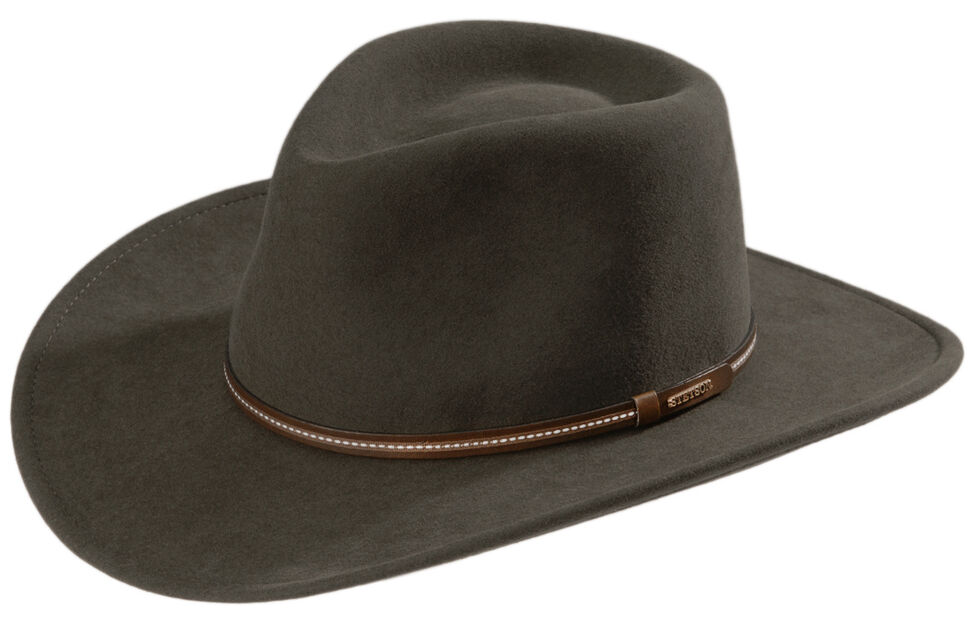 Stetson Gallatin Sage Green Crushable Wool Felt Hat - Country Outfitter 2d995e87d1c
