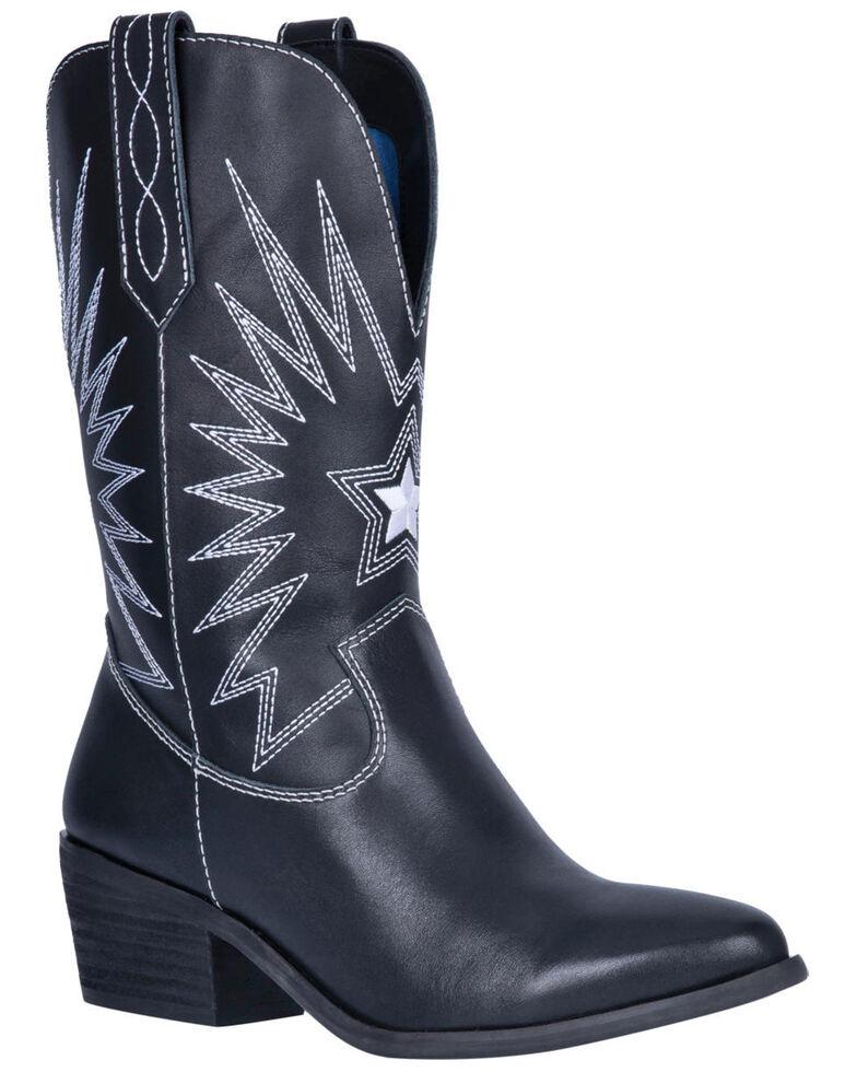 Dingo Women's Rockstar Western Boots - Round Toe, Black, hi-res