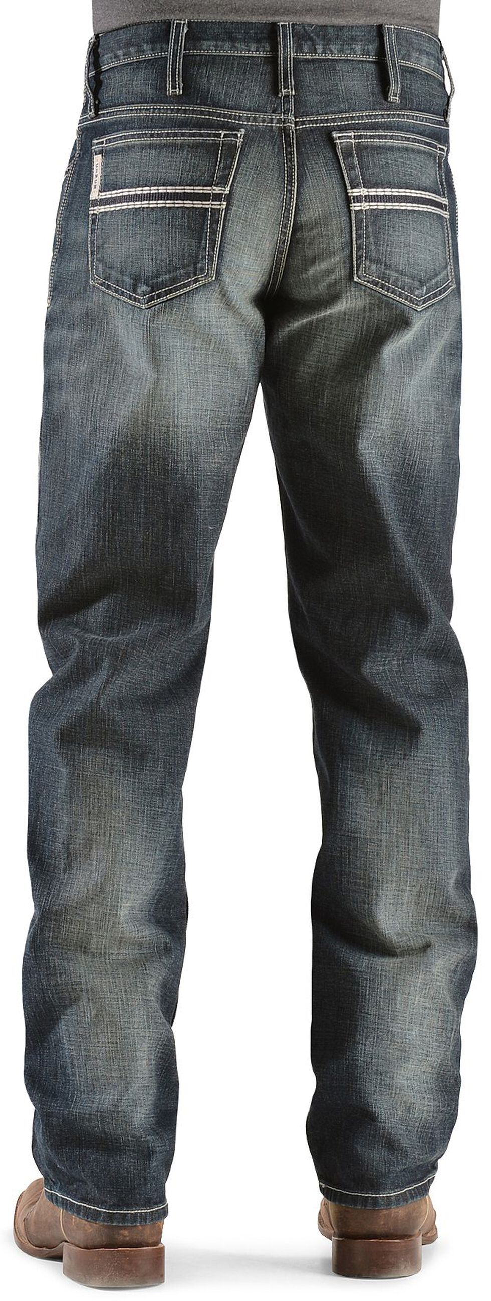 Cinch White Label Relaxed Fit Mid-Rise Jeans Dark Stonewash, Dark Stone, hi-res