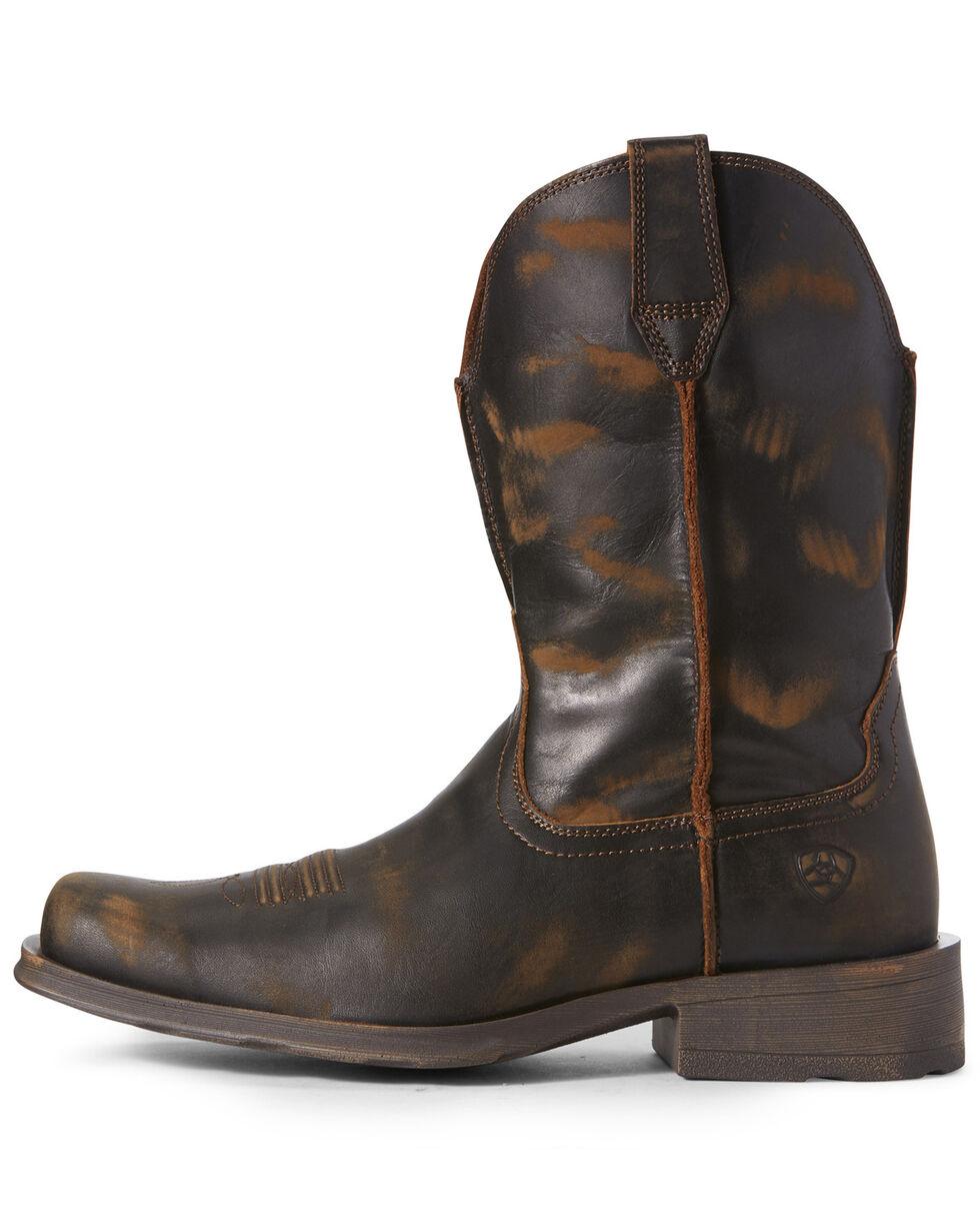 Ariat Men's Rambler Naturally Distressed Western Boots - Square Toe, Brown, hi-res