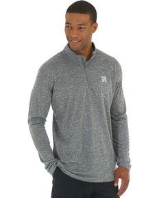 Wrangler Men's Olive Riggs Workwear 1/4 Zip Pullover Shirt - Big & Tall , Heather Grey, hi-res