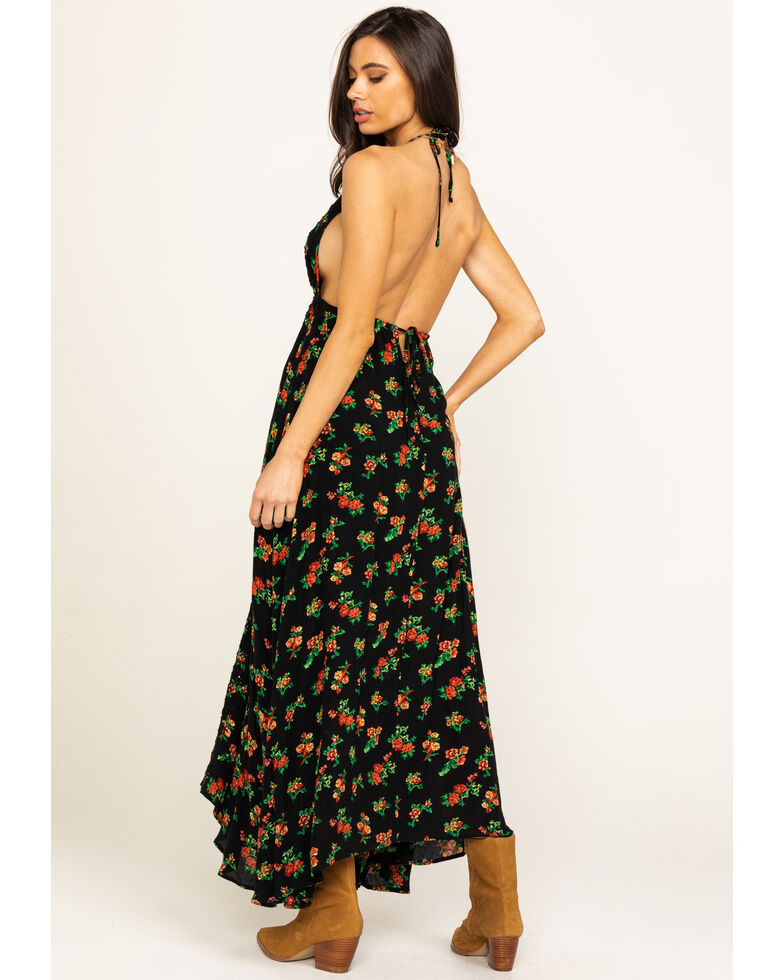 Free People Women's Black Venice Maxi, Black, hi-res