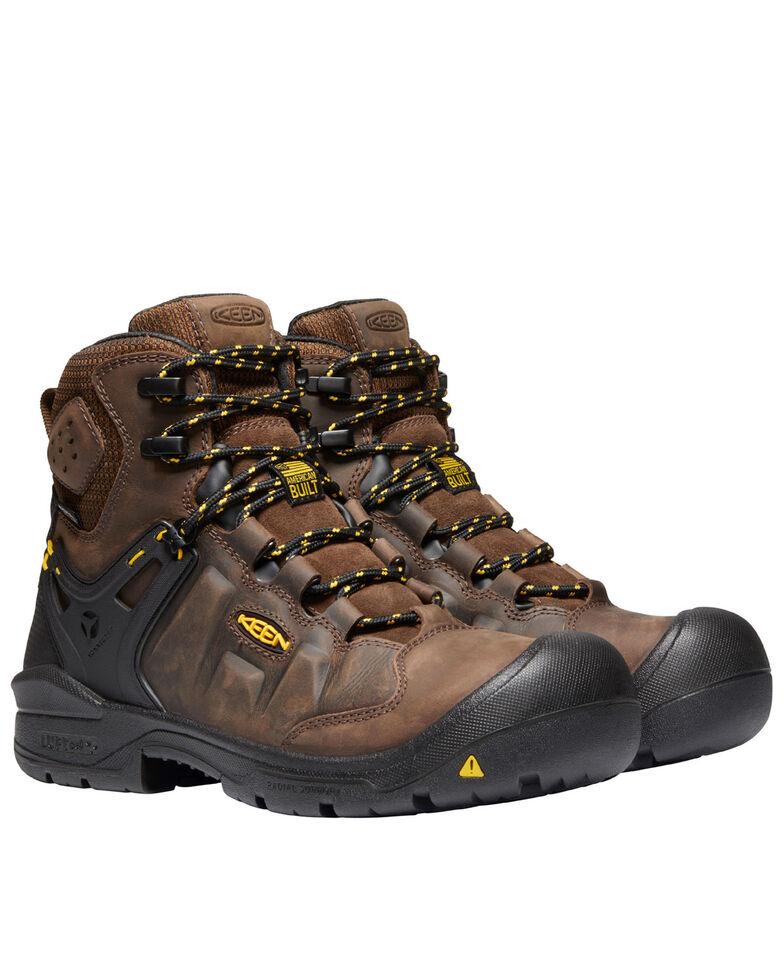 Keen Men's Dover Waterproof Work Boots - Composite Toe, Brown, hi-res