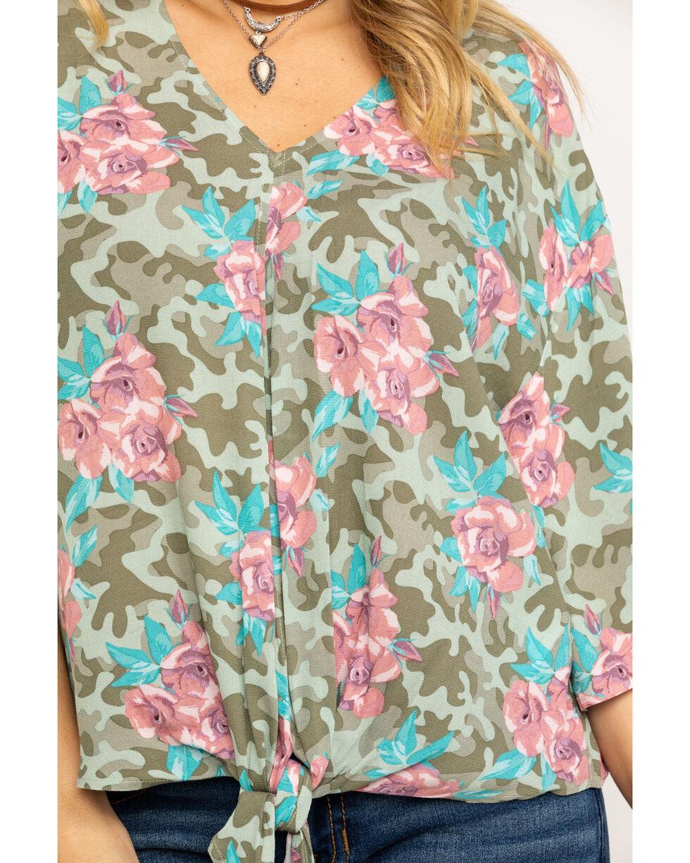 Ariat Women's Mai Tie Shirt, Multi, hi-res