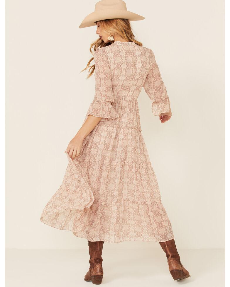 Elan Women's Pink Aztec Chiffon Dress, Pink, hi-res