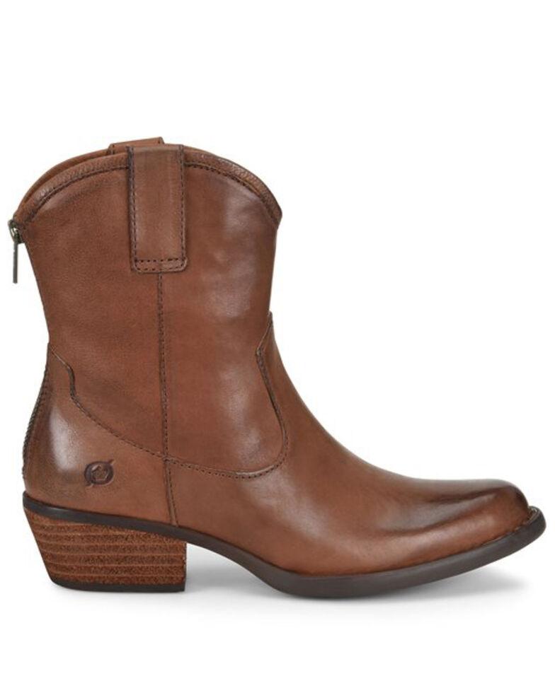 Born Women's Brown Wynd Western Booties - Round Toe, Brown, hi-res