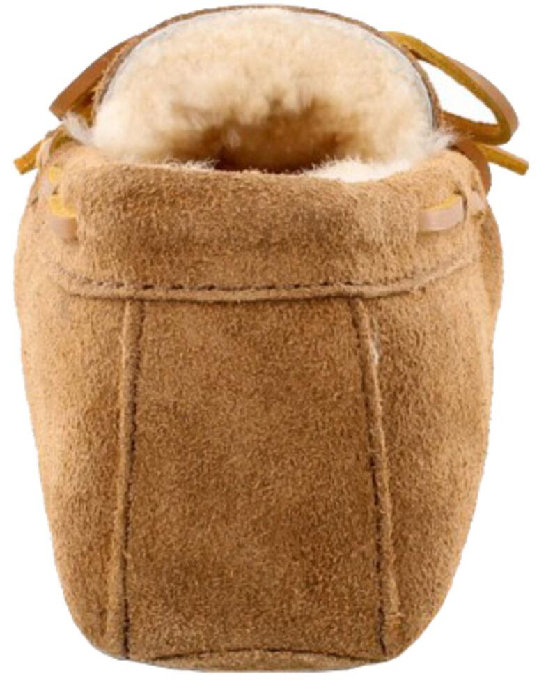 Minnetonka Men's Sheepskin Softsole Moccasins, Tan, hi-res