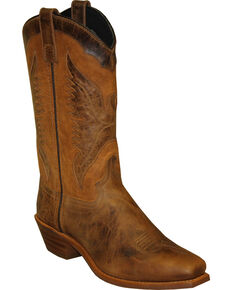 "Sage by Abilene Women's 11"" Eagle Underlay Western Boots - Square Toe, Brown, hi-res"
