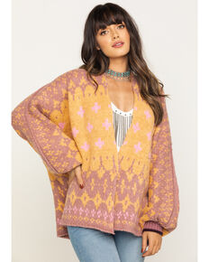 Free People Women's Winter Wonderland Cardigan , Pink, hi-res