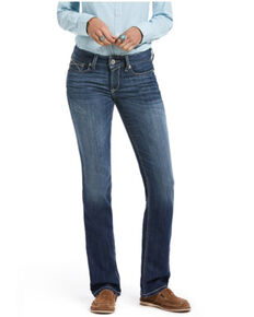 Ariat Women's Chill Blue Straight Leg Jeans, Blue, hi-res