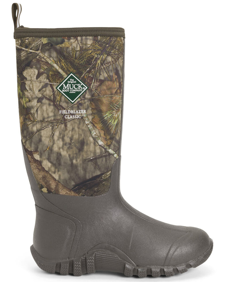 Muck Boots Men's Fieldblazer Classic Rubber Boots - Round Toe, Brown, hi-res