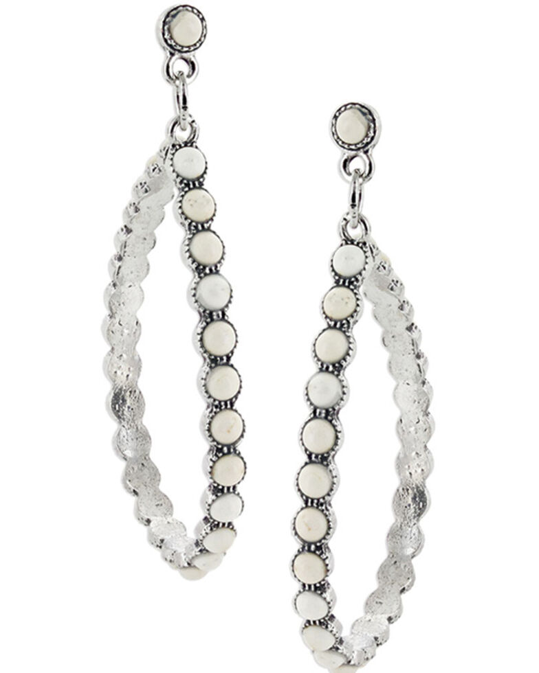 Montana Silversmiths Women's Shimmering Vintage White Mineral Earrings, No Color, hi-res