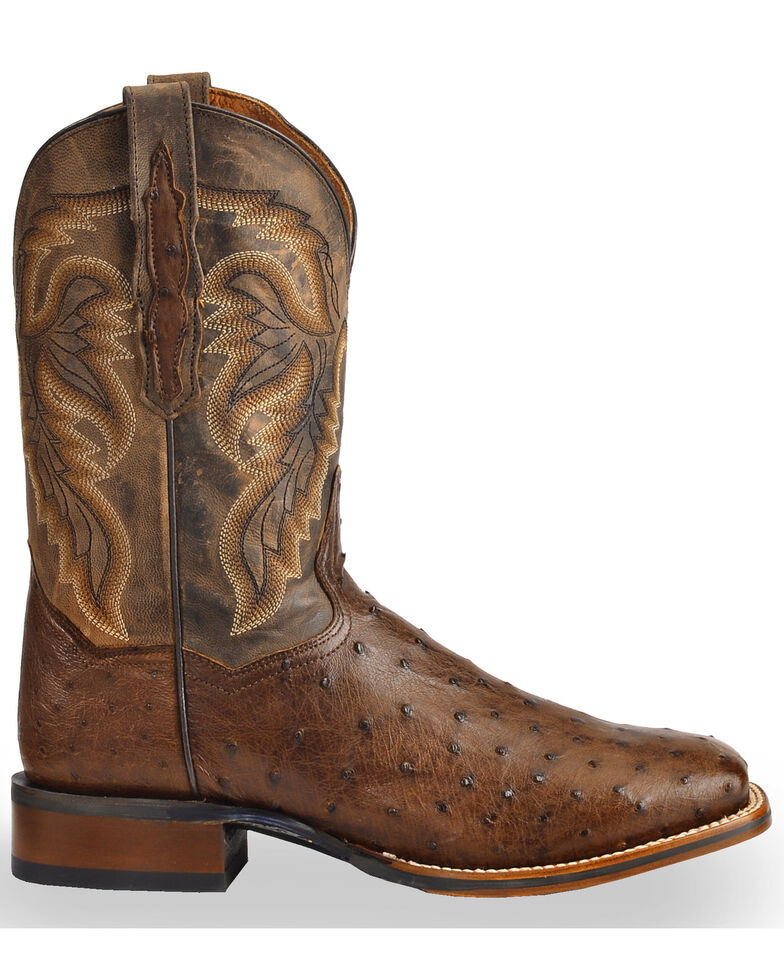 95940d57cb5 Dan Post Men's Alamosa Full Quill Ostrich Western Boots - Square Toe