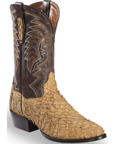 Dan Post Men's Sand Sea Bass Cowboy Boots - Medium Toe , Sand, hi-res