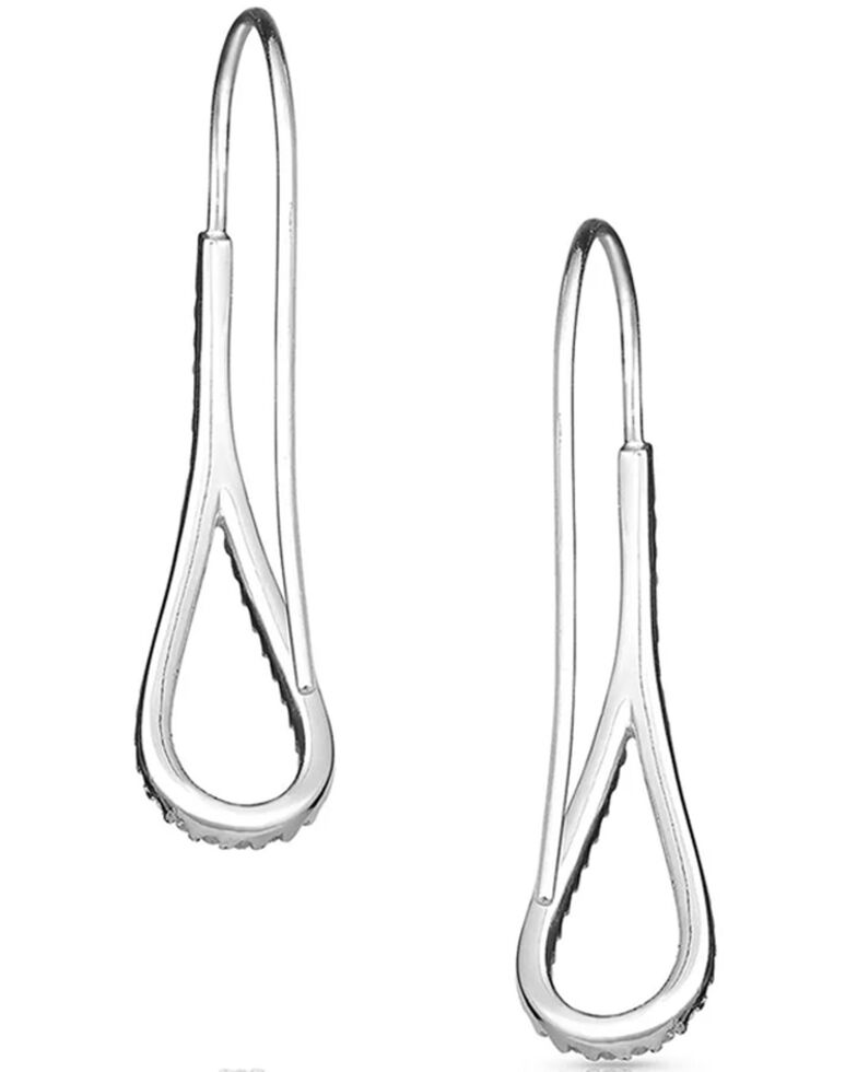 Montana Silversmiths Women's Barely There Teardrop Earrings, Silver, hi-res
