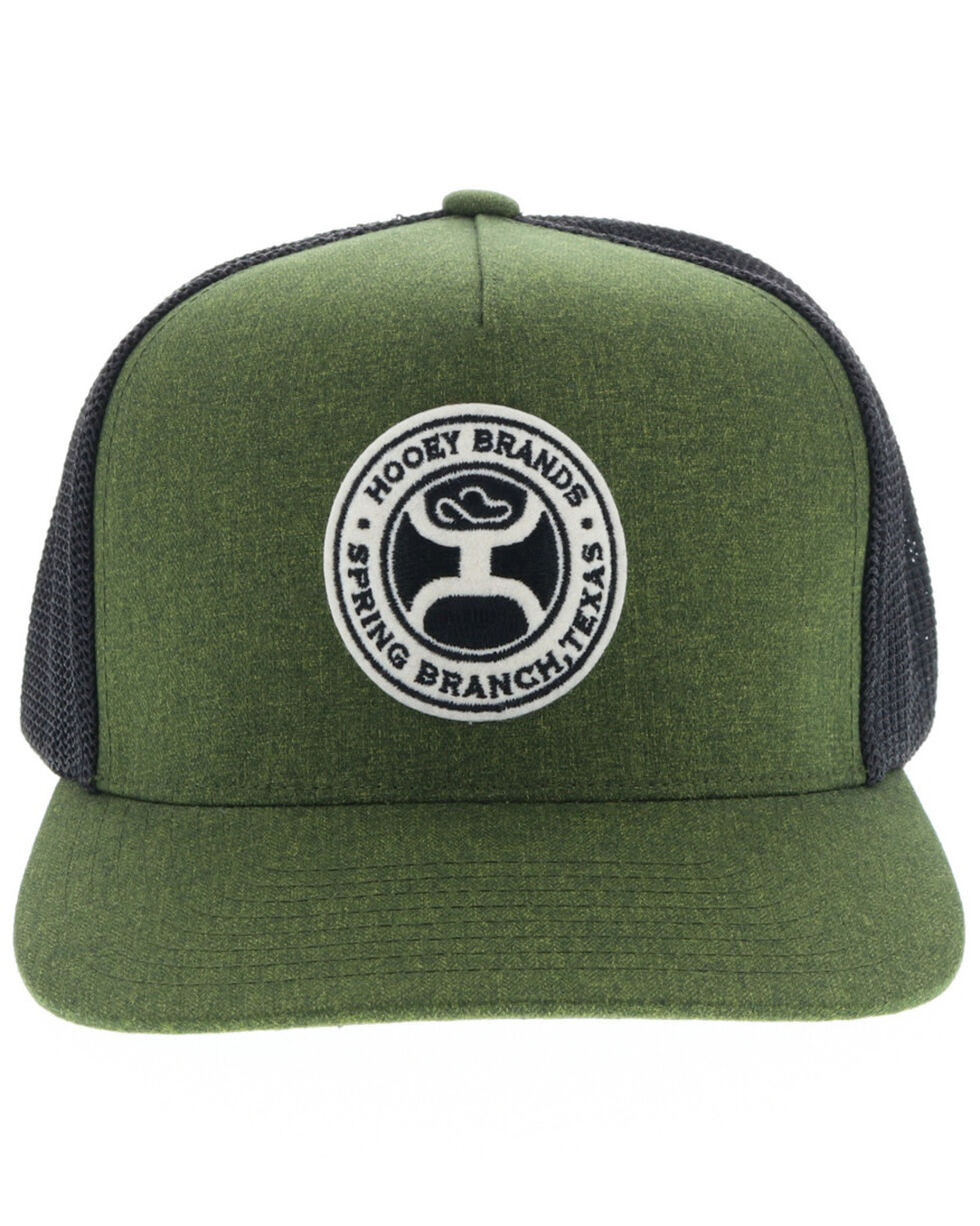 HOOey Men's Guadalupe Circle Patch Ball Cap, Green, hi-res