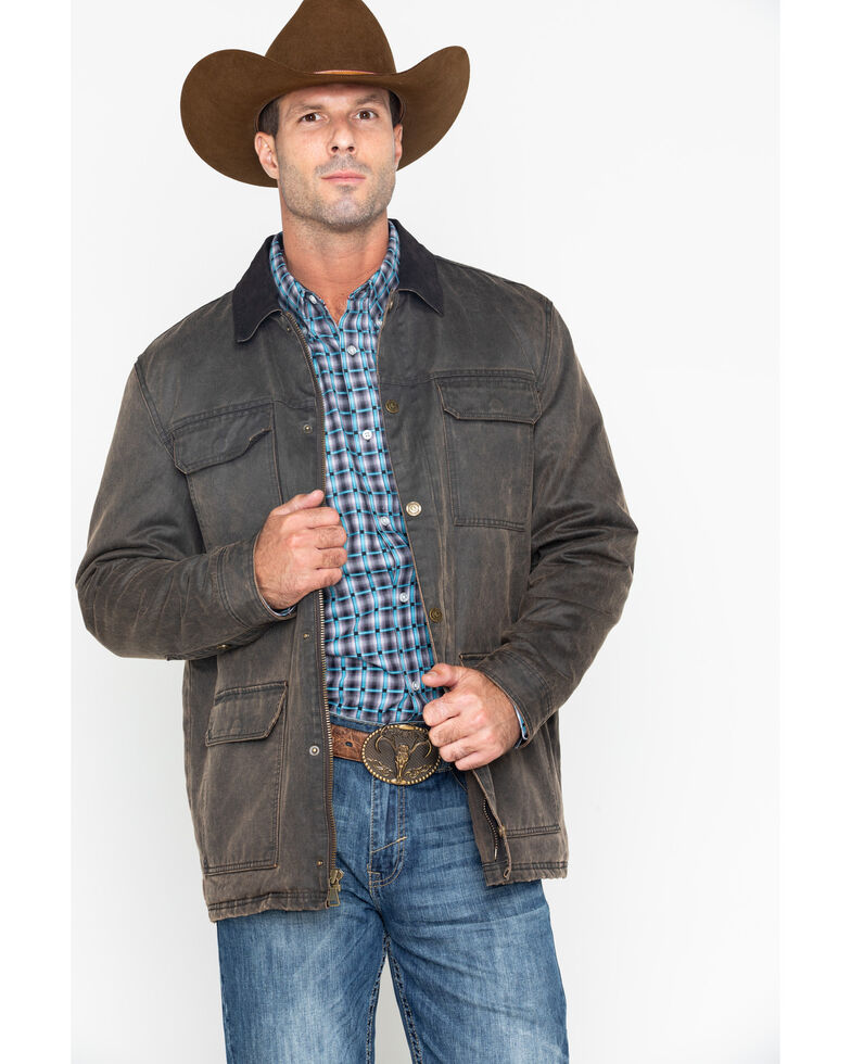 Cody James Men's Oil Can Finish Jacket , Brown, hi-res