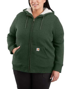 Carhartt Women's Green Heather Clarksburg Sherpa-Lined Hoodie - Plus, Green, hi-res