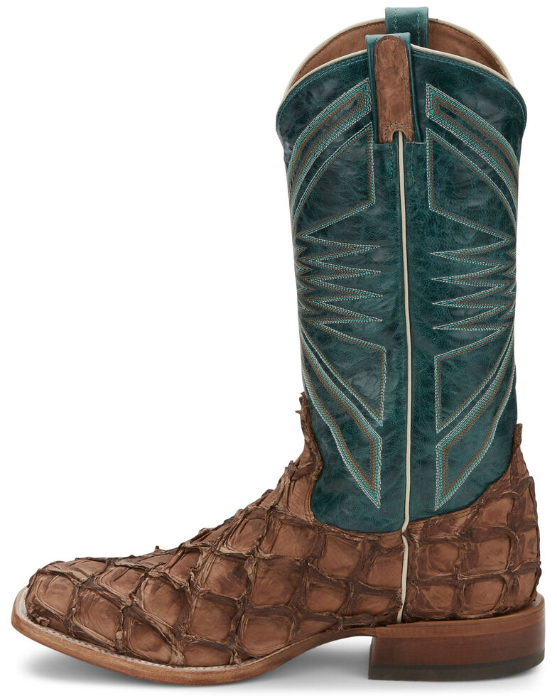 Tony Lama Men's Leviathan Chocolate Western Boots - Wide Square Toe, Brown, hi-res