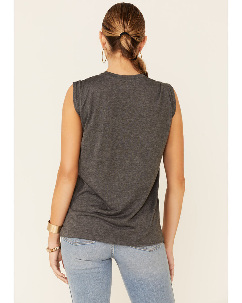 Country Deep Women's Whiskey Bent & Hellbound Graphic Muscle Tank Top, Charcoal, hi-res