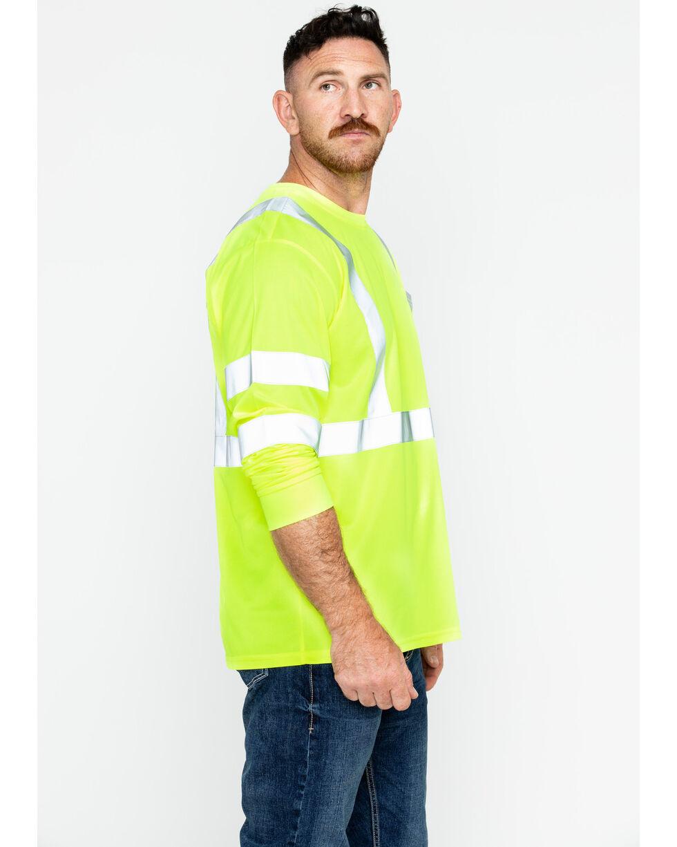 Hawx® Men's Reflective Long Sleeve Work Tee , Yellow, hi-res