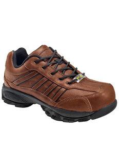 Nautilus Men's ESD Athletic Work Shoes - Steel Toe, Brown, hi-res