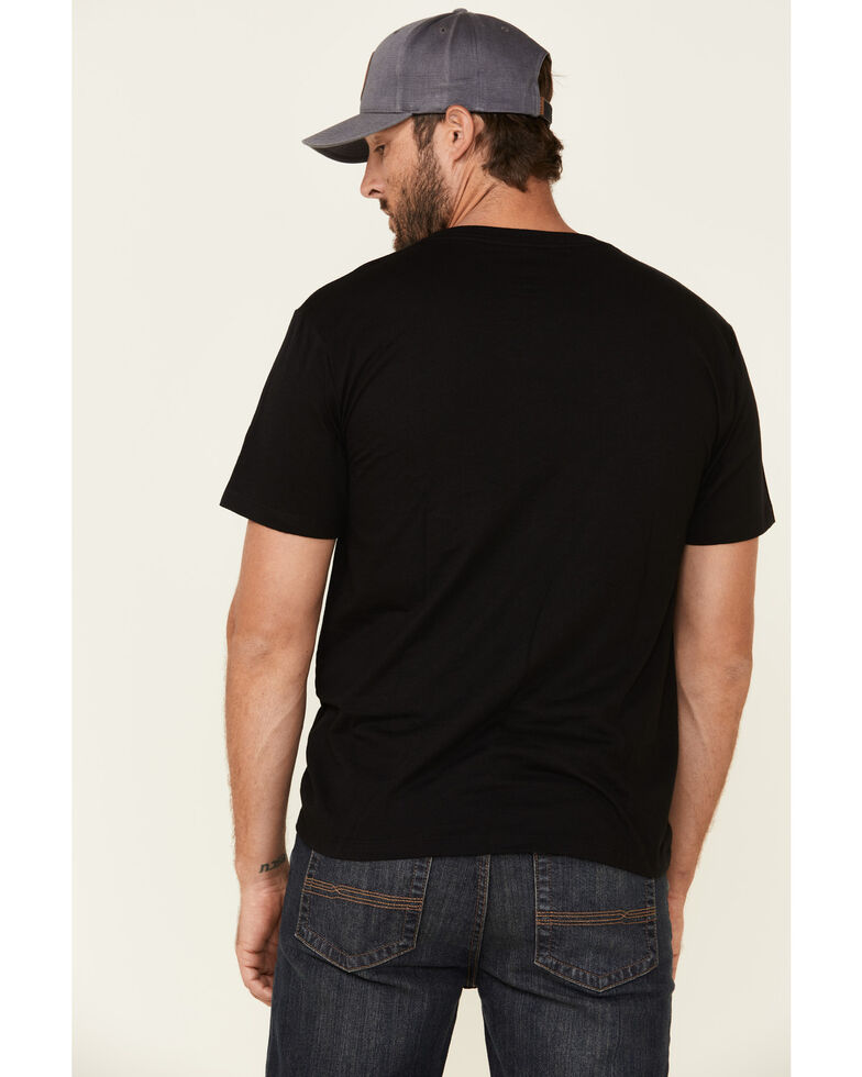 HOOey Men's Black Electric Cowboy Graphic T-Shirt , Black, hi-res
