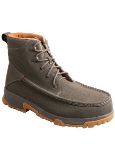 Twisted X Men's Grey Work Boots - Soft Toe, Grey, hi-res