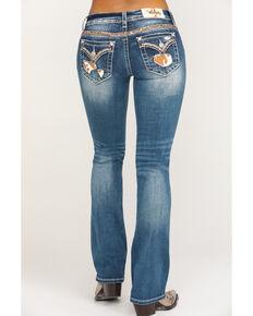 """Miss Me Women's Medium Wash Cowhide Blowout 34""""  Bootcut Jeans , Blue, hi-res"""