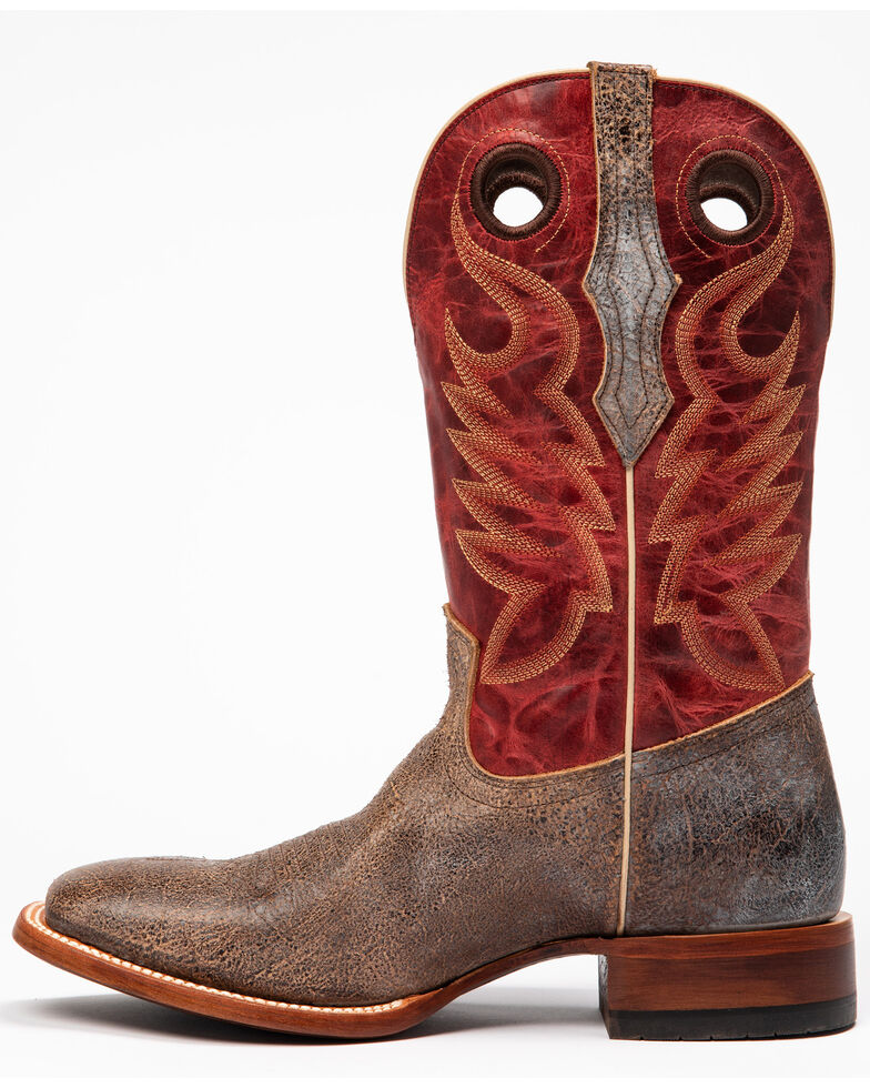 Cody James Men's Union Coffee Western Boots - Wide Square Toe, Red/chocolate, hi-res