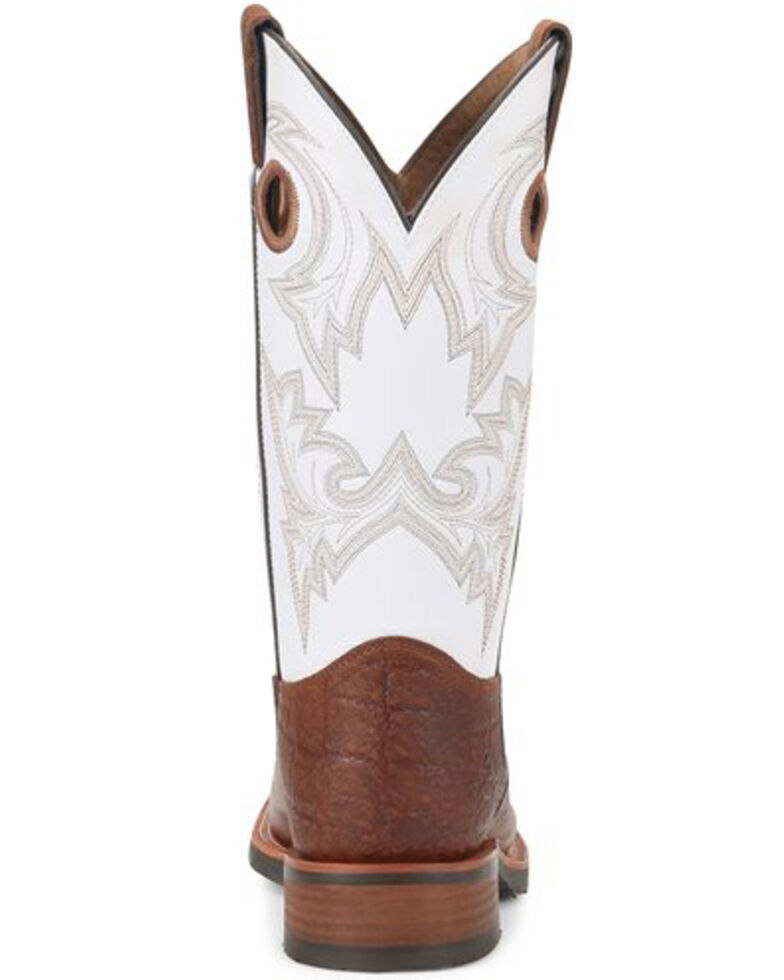 Double H Men's Marty Western Work Boots - Steel Toe, White, hi-res