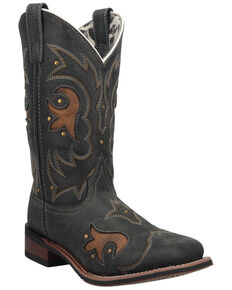 Laredo Women's Aries Western Boots - Square Toe, Black, hi-res