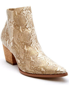 Coconuts by Matisse Women's Astoria Fashion Booties - Pointed Toe, Gold, hi-res