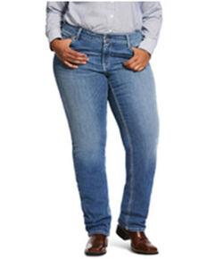 Ariat Women's Odessa Tulip R.E.AL. Straight Jeans, Blue, hi-res