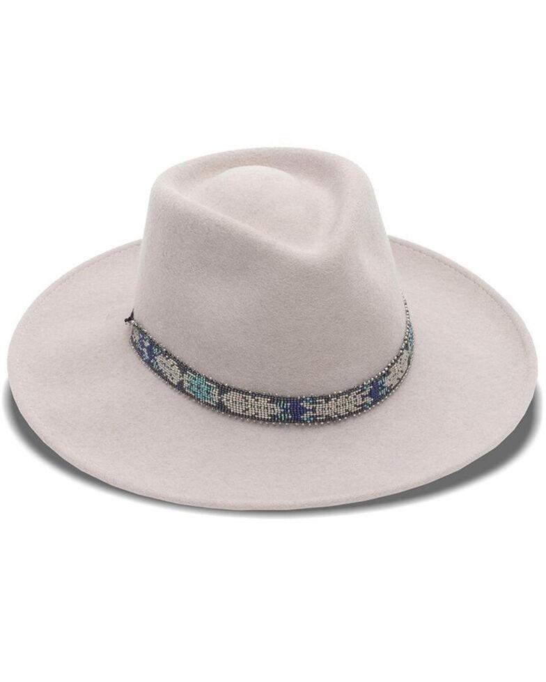 Nikki Beach Women's Mink Wynter Western Felt Rancher Hat , Brown, hi-res