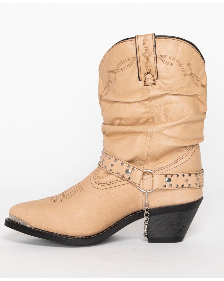 Shyanne Women's Slouch Harness Fashion Boots - Medium Toe, Tan, hi-res
