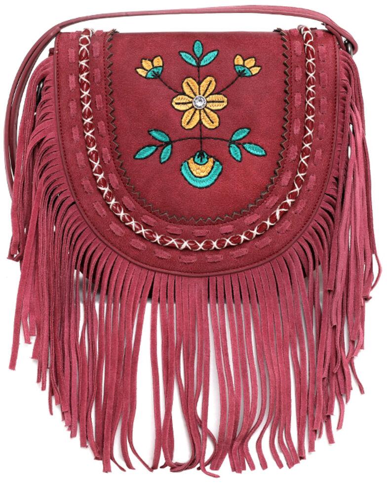 Montana West Women's Wrangler Floral Crossbody Bag, Red, hi-res