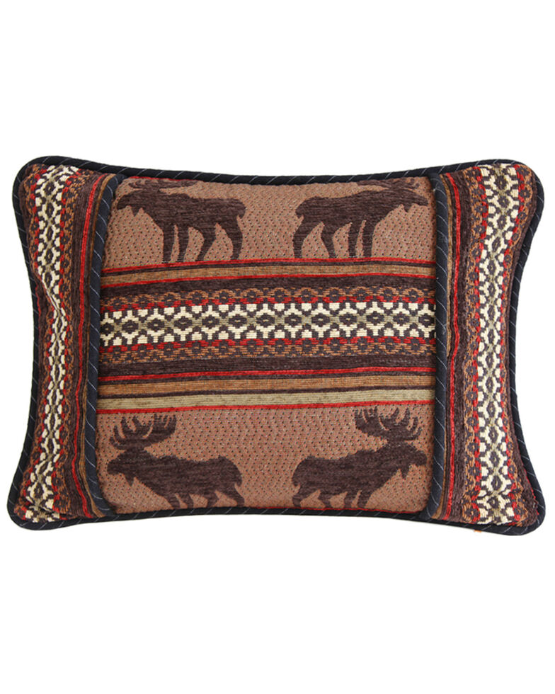 HiEnd Accents Bayfield Oblong Moose Pillow, Multi, hi-res