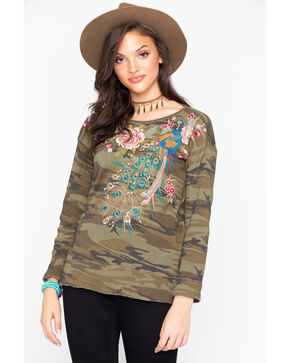 Johnny Was Women's Quito Long Sleeve Thermal Top , Camouflage, hi-res