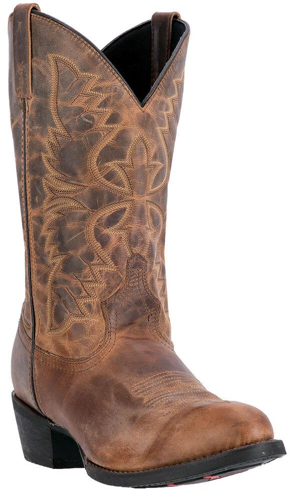Laredo Men's Birchwood Cowboy Boots - Medium Toe , Tan, hi-res