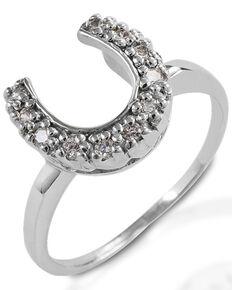 Kelly Herd Women's Horseshoe Ring , Silver, hi-res