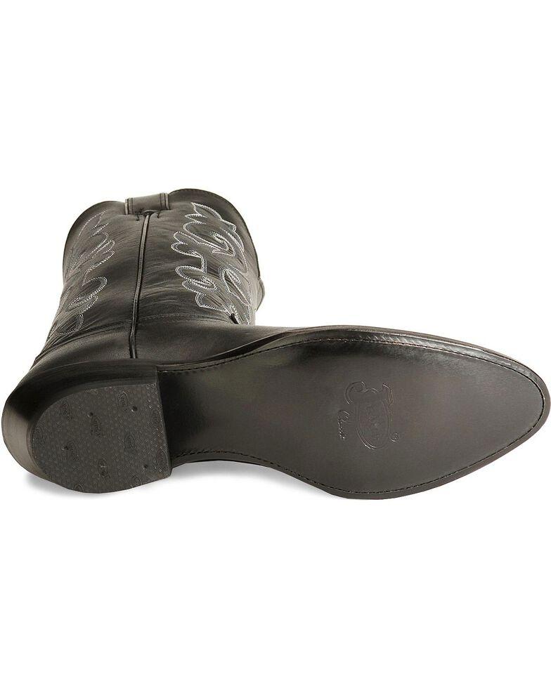 Justin Men's London Calfskin Cowboy Boots - Medium Toe, Black, hi-res