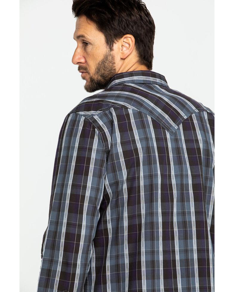 Moonshine Spirit Men's Arrowbear Med Plaid Long Sleeve Western Shirt , Brown, hi-res